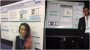 From left to right: Qin Lin and Aqib Chowdhury at the 29th Annual Association for Psychological Science Convention in Boston, MA